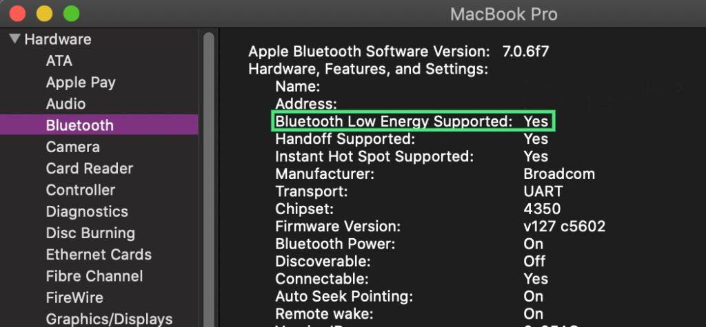 System Preferences Bluetooth