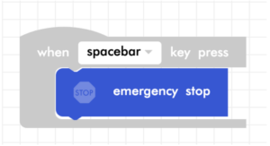 Blockly Junior emergency stop code