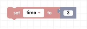 Blockly set to variable block