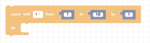 Blockly for loop block - count with