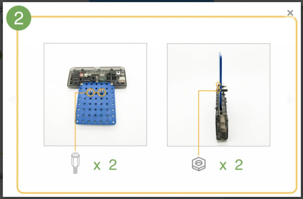 CoDrone remote control build step 2