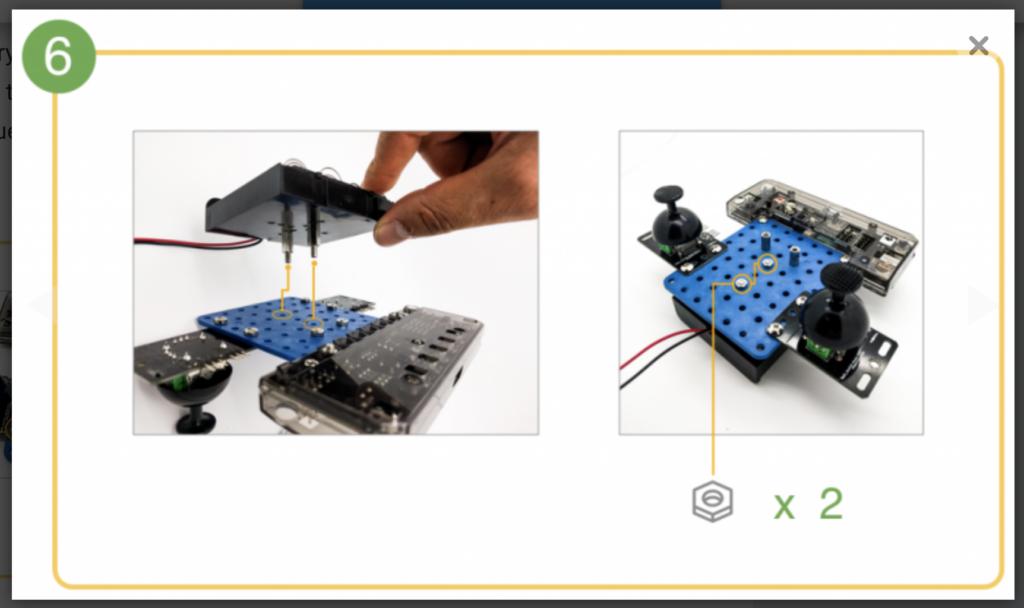 CoDrone remote control build step 6