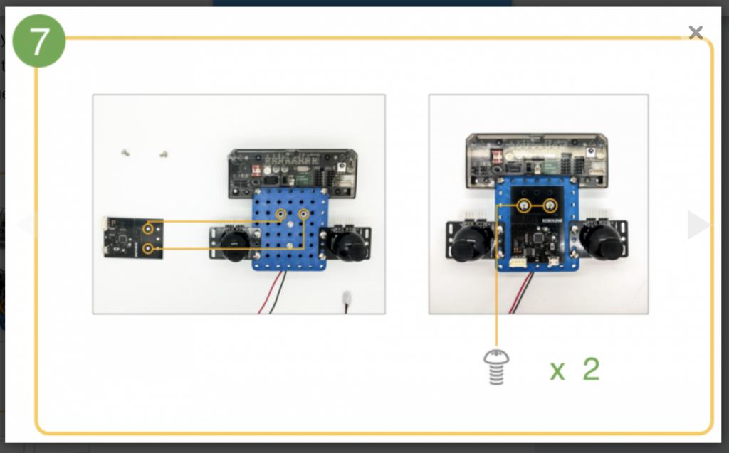 CoDrone remote control build step 7