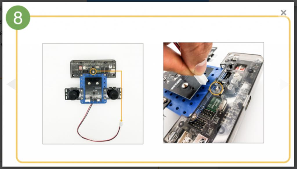 CoDrone remote control build step 8