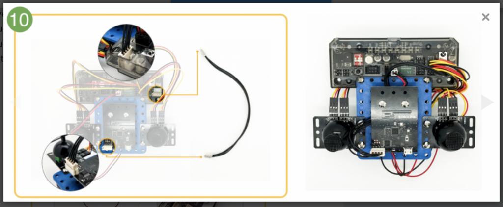 CoDrone remote control build step 10