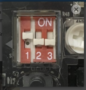 CoDrone remote control DIP switches in upload mode