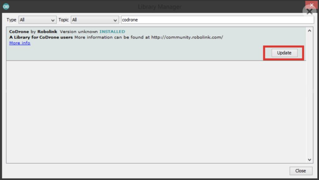 Arduino update CoDrone library