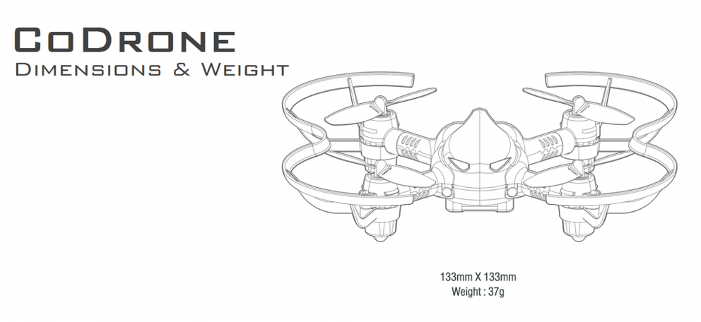 CoDrone dimensions and weight