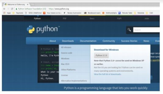 CD with Python - installing Python1