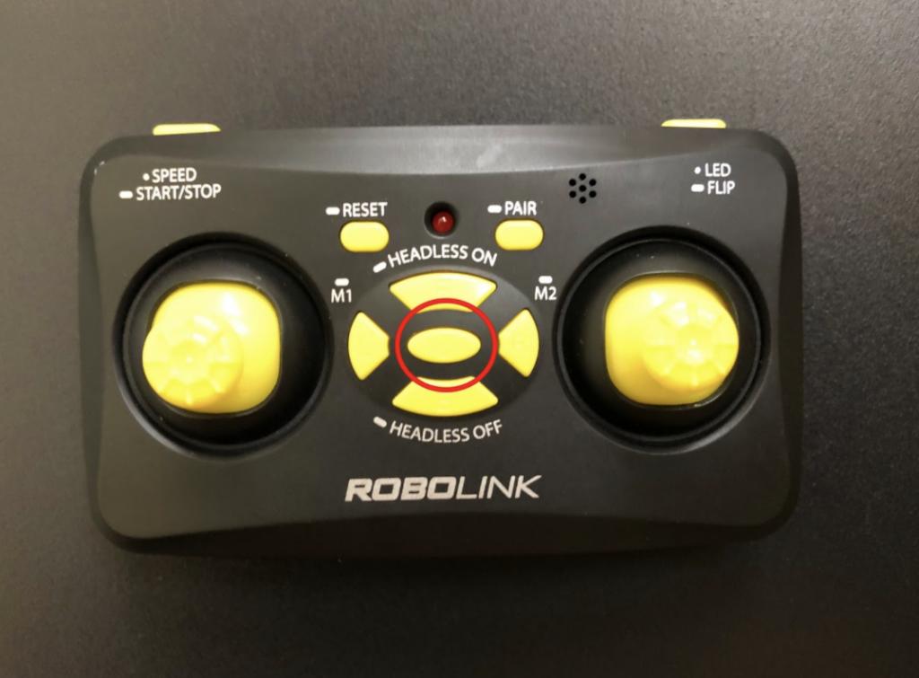 CoDrone Mini remote power button