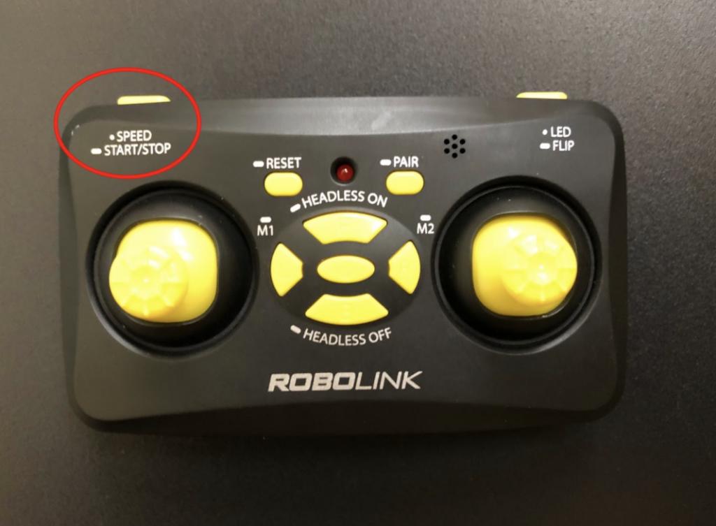 CoDrone Mini remote left shoulder