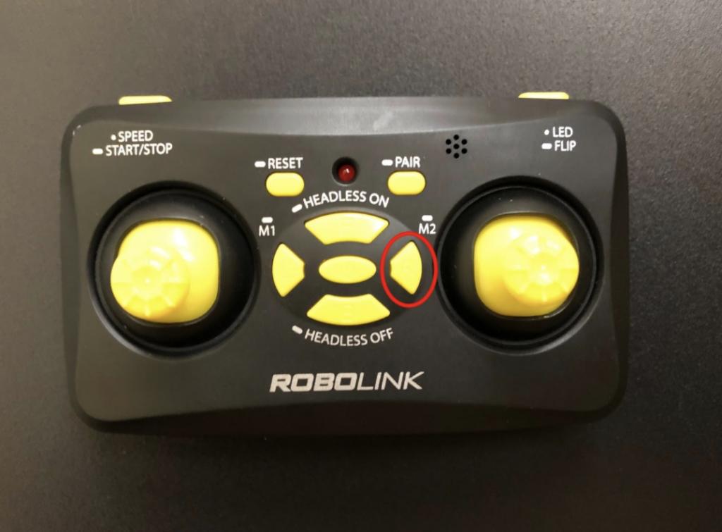 CoDrone Mini remote R button